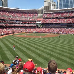 Photo taken at Great American Ball Park by Jaime B. on 5/26/2013