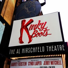Photo taken at Kinky Boots at the Al Hirschfeld Theatre by Chelsea O. on 3/24/2013