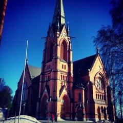 Photo taken at Umeå Stads Kyrka by Luis P. on 4/19/2013