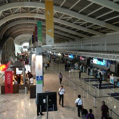 Photo taken at Chhatrapati Shivaji International Airport (BOM) by Srini S. on 7/17/2013