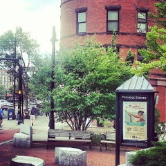 Photo taken at Coolidge Corner by Marcus J. on 7/14/2013