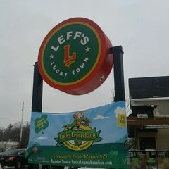 Photo taken at Leff's Lucky Town by Jason B. on 3/16/2013