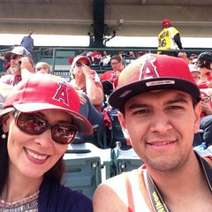 Photo taken at Angels Stadium Club Level by Gus R. on 4/14/2014