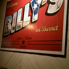 Photo taken at Billy's On Burnet by Spencer K. on 11/19/2011