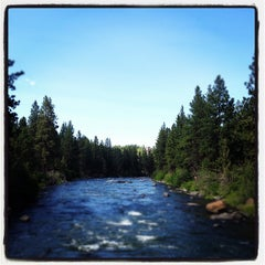 Photo taken at Deschutes River Trail Footbridge by Burk J. on 7/5/2012