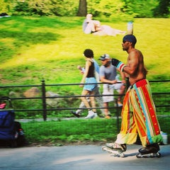 Photo taken at Central Park Dance Skaters Association (CPDSA) — Free Roller Skating Rink by Juliano B. on 6/16/2014