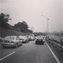 Photo taken at East-West Link Expressway by Jon R. on 3/6/2014