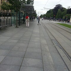 Photo taken at Station Cité Universitaire [T3a] by Romdhan F. on 7/2/2013