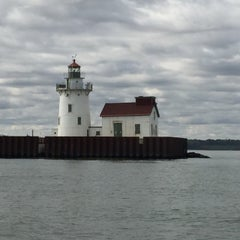Photo taken at Lake Erie by Brett D. on 10/10/2015