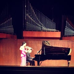Photo taken at Paul Recital Hall at Juilliard by J C. on 4/3/2014