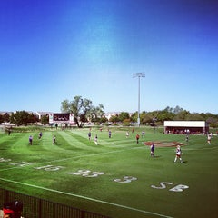 Photo taken at John Crain Field at the OU Soccer Complex by ctaylorou on 10/14/2012