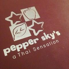 Photo taken at Pepper Sky's Thai Sensation by Greg B. on 1/19/2013