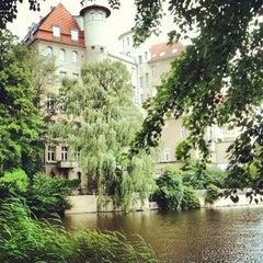Photo taken at Lietzensee by Gija N. on 6/30/2013