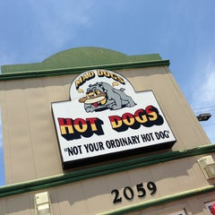 Photo taken at mad dogs hot dogs by Jeremy L. on 5/19/2013
