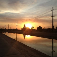 Photo taken at Tempe Canal @ Guadalupe Rd by Stu H. on 6/29/2013