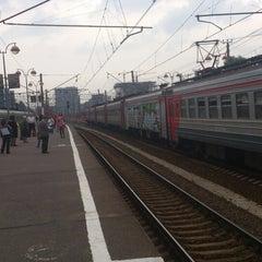 Photo taken at Савеловский вокзал / Savyolovsky Rail Terminal by Сергей Б. on 5/24/2013
