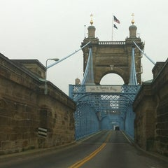 Photo taken at John A. Roebling Suspension Bridge by Nicole R. on 3/15/2013