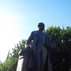 Photo taken at Severn Teackle Wallis Statue by Alejandro G. on 8/25/2013