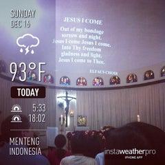 Photo taken at Gereja Santa Theresia by thomas f. on 12/16/2012