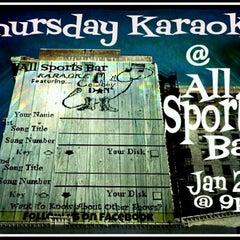 "Photo taken at All Sports Sports Bar by ""Cowboy"" Dan R. on 1/18/2013"
