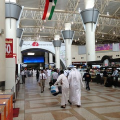 Photo taken at Kuwait International Airport by Abdullah A. on 4/4/2013