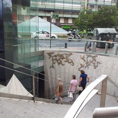 Photo taken at Metrovalencia Pl. Espanya by Sergio G. on 7/14/2014