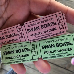Photo taken at The Swan Boats by AlohaKarina 🌺🌈🏄🏻🍹 on 5/3/2015