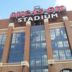 Photo taken at Lucas Oil Stadium by Vanessa H. on 3/31/2013