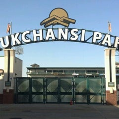 Photo taken at Chukchansi Park by Shannon S. on 9/15/2012