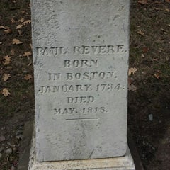 Photo taken at Paul Revere's Tomb by Dan E. on 3/28/2014