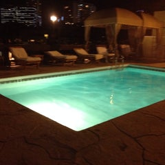 Photo taken at Le Montrose Rooftop Pool by Anderson A. on 12/30/2013