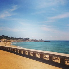 Photo taken at Platja del Miracle by Paige L. on 4/17/2014