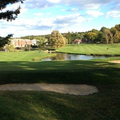 Photo taken at Newton Commonwealth Golf Course by Michael N. on 10/8/2014