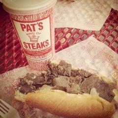 Photo taken at Pat's King of Steaks by DJ L. on 7/5/2013