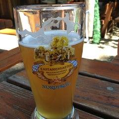Photo taken at Brauereischenke Kastaniengarten by Roland L. on 7/26/2013