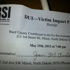 Photo taken at Ward County Courthouse by Billy S. on 5/15/2013