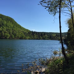 Photo taken at Montiggler See by Sandro S. on 4/19/2015