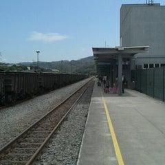 Photo taken at Estação Ferroviária Intendente Câmara (EFVM) by Bruno P. on 10/13/2014