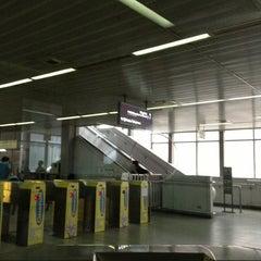 Photo taken at LRT 2 (Araneta Center-Cubao Station) by Leomarie O. on 4/17/2013