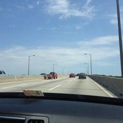 Photo taken at Pearl Harbor Memorial Bridge by Ya K. on 8/20/2014
