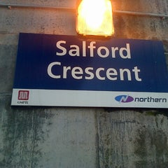 Photo taken at Salford Crescent Railway Station (SLD) by Matthew B. on 7/29/2013