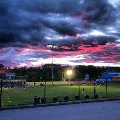 Photo taken at Franklin High School Turf Field by Geoffrey Z. on 9/25/2013