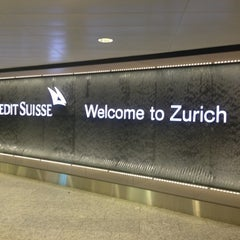 Photo taken at Zürich Airport (ZRH) by Pallope M. on 5/3/2013