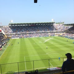 Photo taken at Club Brugge K.V. by Thomas V. on 5/19/2013