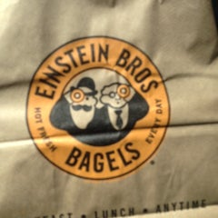 Photo taken at Einstein Bros Bagels by Steve F. on 8/31/2014