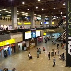 Photo taken at Aeroporto Internacional de São Paulo / Guarulhos (GRU) by Alessandro V. on 3/18/2015