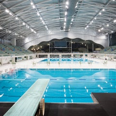Photo taken at Sydney Olympic Park Aquatic Centre by Travel + Leisure on 9/9/2014