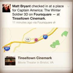 Photo taken at Tinseltown Cinemark by Matt B. on 4/5/2014