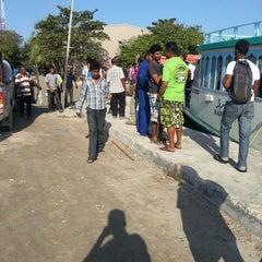 Photo taken at Thilafushi ferry terminal- Thilafushi by Ayiiya M. on 4/25/2013