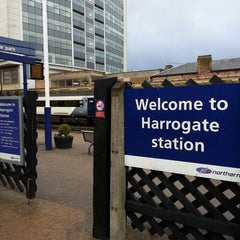 Photo taken at Harrogate Railway Station (HGT) by Spencer H. on 4/18/2013